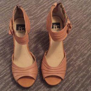 BC peep toe wedges